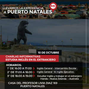 Puerto Natales / Seminario intercambio estudiantil «Estudia inglés en el extranjero»