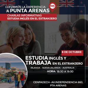 Punta Arenas: Estudiar inglés y trabajar en el extranjero  (Irlanda, NZ y Australia)
